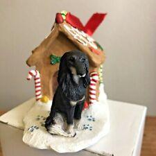 Saluki Christmas Ornament Gingerbread House Black Dog Ornament New