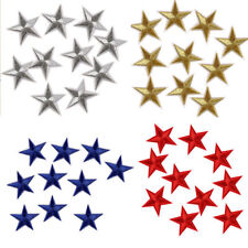 10x Five Pointed Star DIY Fabric Sticker Embroidery Badge Patch Clothes Ornament