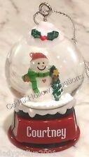 Personalized Snow Globe Ornament - Carol - FREE Shipping
