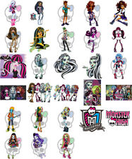 Monster High characters, iron on T shirt transfer. Choose image and size
