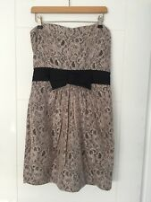 H&M UK size 12 blush pink lace strapless bandeau party dress sweetheart neckline
