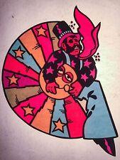 60's 70's PETER MAX Beetles ELTON JOHN rock Art Unused vtg Orig t-shirt iron-on
