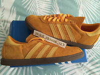 ADIDAS TOBACCO YELLOW SUEDE UK 11 10 9.5 9 8 7 GOLD GUM SOLE