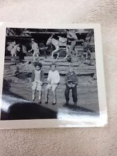 Vintage Black And White Photo Of Children At Knott's Berry Farm
