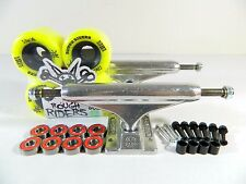 Independent 149 Stg11 Trucks + Bones 56mm 80a ATF Rough Riders Yellow Wheels