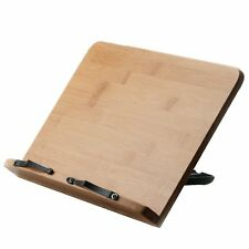 Book Holder Stand Wood For Reading College Desk Table Top Hands Free Display