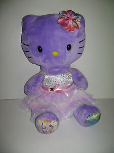 "BUILD A BEAR LIMITED EDITION HELLO KITTY DRESSED 19"" PLUSH STUFFED LOVE TIE DYE"