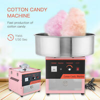 Electric Commercial Cotton Candy Machine Tabletop Sugar Floss Maker Party Pink