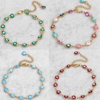 ITS- Evil eye bracelet - Many Colors Choose - stainless steel - Greek jewelry Li
