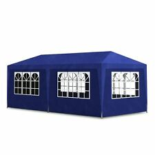 Outdoor 10'x20' Blue Canopy Party Tent Gazebo Pavilion Cater Events 6 Sidewalls