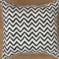 """New Funky Black White Chevron Lines Fabric Spotty Dotty Cushion Covers 16"""""""