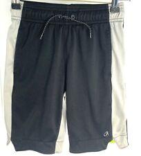 GapFit Boy's Black and Gray Athletic Shorts with Drawstring Elastic Waist. Sz S