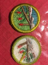 Wilderness Survival Merit Badge, White Plastic Back, Mint!