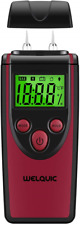 Wood Moisture Meter, WELQUIC 3-in-1 Digital Temperature Detector Wood Humidity 3