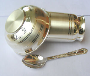 999 fine silver water milk glass and bowl,silver tumbler spoon,baby food utensil