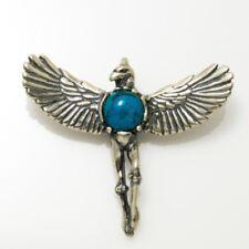 Eagle Dancer Pendant solid .925 Sterling Silver w/ natural custom gemstone