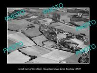 OLD LARGE HISTORIC PHOTO AERIAL VIEW OF MEOPHAM GREEN KENT ENGLAND c1940 1