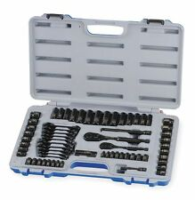 "Westward 1/4"", 3/8"" Metric and SAE Black Oxide Socket Wrench Set, Number of"