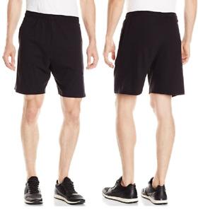 Men's Cotton Soft 7.5 inch Knit Lounge/Sleep Shorts w/Pockets 3XLarge Black