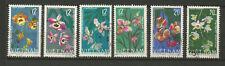 Vietnam du Nord 1966 Orchidées série de 6 timbres oblitérés /T6361