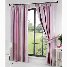 Polyester Striped Curtains & Pelmets with Pencil Pleat