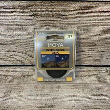 Hoya 37mm Slim Frame Circular Polarising Filter CIR-PL Filter With Case Used