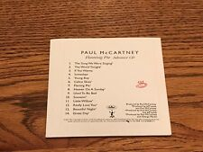 PAUL McCARTNEY FLAMING PIE ADVANCE CD ~ 1997 Digipak