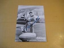 Autogrammkarte Niki Lauda (+) mit Druckautogramm öfag automobile + flugzeuge