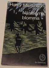 Nässlorna blomma by Harry Martinson 1971 Paperback Swedish Language. Nasslorna
