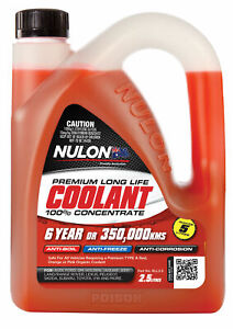 Nulon Long Life Red Concentrate Coolant 2.5L RLL2.5 fits Proton Persona 1.6, ...