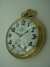 HAMILTON 999P BALL OFFICIAL RAILROAD STANDARD 21J RAILROAD POCKET WATCH 1937