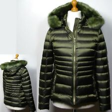 PER UNA Quilted DOWN & FEATHER Stormwear JACKET with HOOD ~ Size 16 ~ FERN GREEN