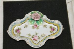 Meiko China Occupied Japan Ring Dish in a 3D Rose Design Lot#763