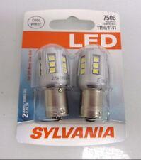 SYLVANIA ZEVO LED SUPER BRIGHT 7506 1156 1141 LED 2 BRAND NEW Bulbs
