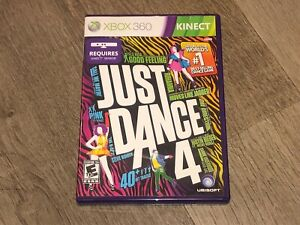 Just Dance 4 Xbox 360 Complete CIB Authentic