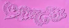 Baroque Artistic Lace Design Silicone Mold for Fondant, Chocolate, Crafts etc.