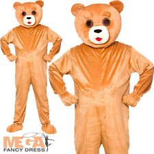 Teddy Bear Adulto Mascotte Costume Zoo BOOK Uomo Donna Donne Costume Outfit