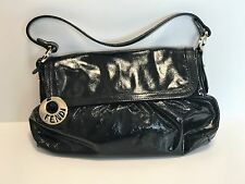 Genuine *FENDI* Small Black Patent Chef Bag - Good Condition. Dust Bag included.
