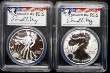 2013-W WEST POINT 2-COIN SET ~ PCGS PF69 & MS69 ~ ED MOY SIGNED ~ SHIPS FREE (E)