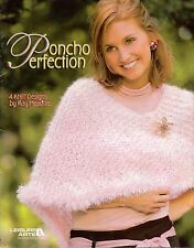 Knitting Patterns Poncho Perfection Bulky Weight Leisure Arts 3976 2004 VTNS