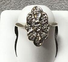 VINTAGE 14 K WHITE GOLD DIAMOND PRINCESS RING