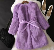 Winter Warm Womens Rabbit Fur Coat Jacket Overcoat Parka Thicken Trench Outwear