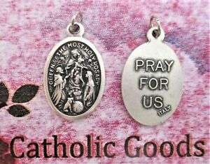 Our Lady Queen of the Most Holy Rosary - Italian Silver-Tone OX 1 inch Medal