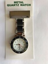 NEW FIRST HAND HEALTHCARE WATCH STYLE LINKS THERAPIST NURSE SILVER WITH BLACK