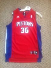 Detroit Pistons Rasheed Wallace Adidas Red Throwback YOUTH Jersey Large New!