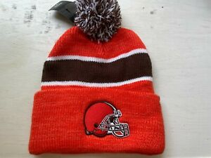 NWT Cleveland Browns Season Ticket Winter Beanie Hat Cap Orange NFL Football