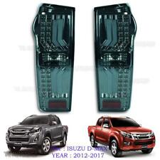 Fits Isuzu Holden Dmax D-Max 2012 - 17 Black Smoke Lens Led Rear Tail Light Lamp