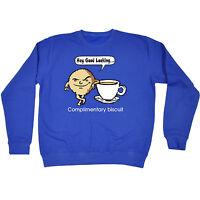 Hey Good Looking Complimentary Biscuit SWEATSHIRT jumper birthday cartoon tea