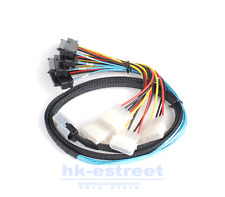 Top Mini SAS 36 Pin SFF-8087 to 4x SAS/SFF-8482 with Power HDD Cable 3FT 1M