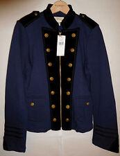 new Ralph Lauren Denim & Supply velvet lapel military jacket, navy, L, MSRP $198